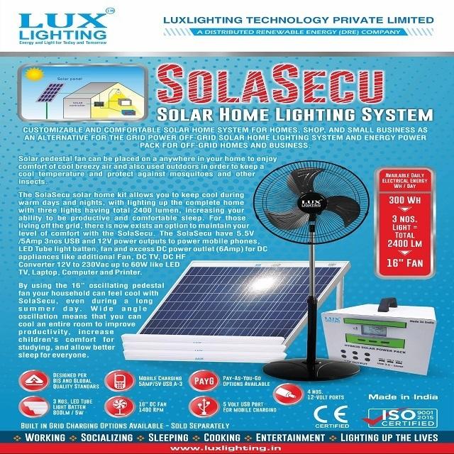 .SOLAR HOME LIGHTING SYSTEM (SHLS)